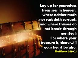 Image result for PIctures of laying up treasures