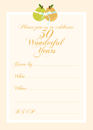 50th wedding anniversary invitations templates templates party invitations 50th wedding anniversary invitation