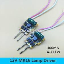<b>3 pcs</b> MR16 12V 4 7X1W Constant current LED driver MR16 <b>4W 5W</b> ...
