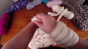 <b>Arm Knitting</b> with <b>wool</b> tops (sliver) - YouTube