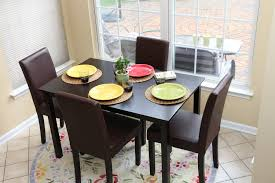 dining table parson chairs interior: amazoncom  pc espresso leather brown  person table and chairs brown dining dinette espresso brown parson chair table amp chair sets