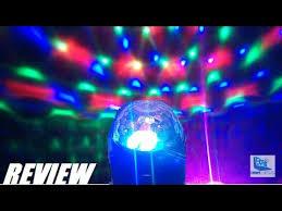 REVIEW: Glisteny DJ MIni LED Stage <b>Ball Party Light</b> - YouTube