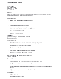 professional electronic assembler resume templateprofessional electronic assembler resume