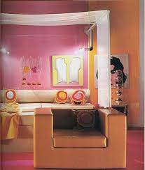 kitty otoole elegant whimsical bedroom: pink orange mod bedroom image from the  book living for today