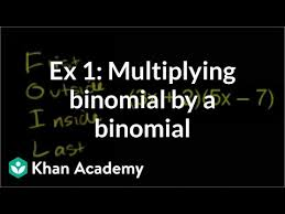 Multiplying binomials (video)   Khan Academy