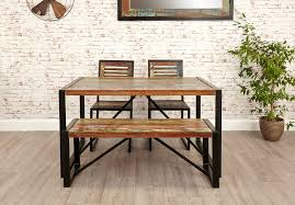 small dining bench: benches inside the home are all the rage right now and our industrial chic small dining bench is a beautiful and modern addition that will have you sitting