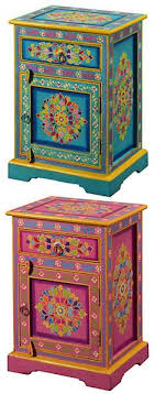 handpainted cabinets handpainted bedside handpainted indian handpainted furniture style handpainted painted bohemian furniture gypsy furniture bohemian furniture