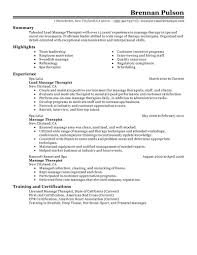 simple sample massage therapist resume massage therapy resume examples