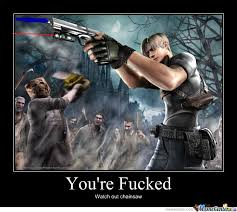 Resident Evil 4 by zombieman - Meme Center via Relatably.com