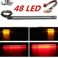 <b>Flexible 48 LED</b> SMD Strip Motorcycle Car Tail Turn Signal Brake ...