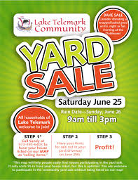 community yard lake telemark community club community yard saturday 25 all households in lake telemark are welcome to participate