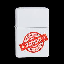 Заказать <b>Зажигалка ZIPPO Zippo Guaranteed</b> с покрытием White ...
