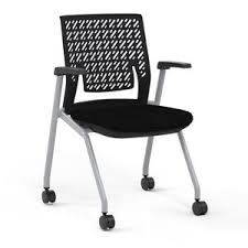 Thesis™ Flex Back <b>Stacking Chair</b> with arms | Fabric seat, <b>Office</b> ...
