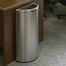 bathroom trash cans elegant interior design half moon commercial trash can commercial trash cans at hayneedle