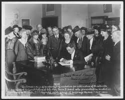 gov ernor emmett d boyle of nevada signing resolution for gov ernor emmett d boyle of nevada signing resolution for ratification of nineteenth amendment to constitution of u s mrs sadie d hurst who presented
