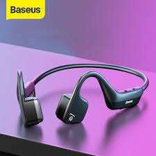 Baseus BC10 <b>Bone Conduction Bluetooth</b> Earphone Outdoor Sport ...