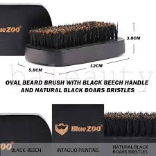 BLUE ZOO <b>Black Beard</b> Brush <b>Facial</b> Hair Brush Mustache Shaving ...