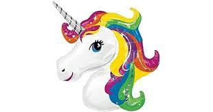 115x85CM Large <b>Unicorn</b> Rainbow <b>Foil Helium</b> Children <b>Balloon</b> ...