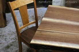 walnut cherry dining: natural live edge and rh yoder amish handrafted cherry and walnut dining chair