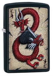 <b>Зажигалка Zippo Dragon</b> Ace с покрытием Black Matte, 29840 на ...