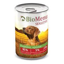 <b>BioMenu SENSITIVE Консервы</b> для собак <b>Индейка</b>/Кролик 95 ...
