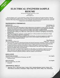 electrical engineer resume sample 2015 engineering resume examples for students