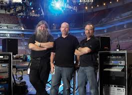 audio technica photo caption pictured from l r metallica s foh engineer big mick hughes audio technica marketing manager gary boss and metallica s monitor engineer