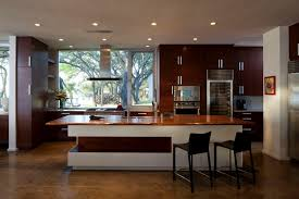 kitchen wooden island lacquered living