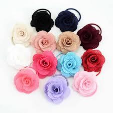 1Pcs/set New Popular Head Ornament <b>Elastic Hair</b> Ties <b>Chiffon</b> ...