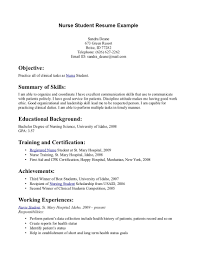 nursing student resume examples info healthcare medical medical assistant objective nurse extern