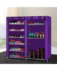 modern minimalist removable storage shoe organizer non woven stainless steel furniture shoes cabinet closet five layer rack