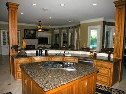Decor For Kitchen Counters Great L Shape Small Kitchen Decoration Using Dark Brown Granite