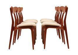 modern walnut dining chairs dux