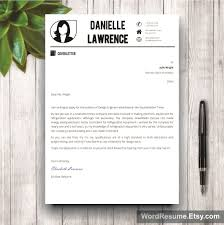 modern resume template cover letter word danielle lawrence mockup template resume 8 cover letter