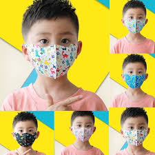 Kids Cartoon <b>Reusable Ice</b> Silk <b>Cotton</b> Printed <b>Earloop</b> Masks ...