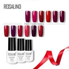 <b>Rosalind Red</b> Colors 7ML <b>Nail Polish</b> White Bottle UV/LED Nail Art ...