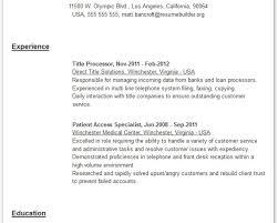 customer service telecommunications resume