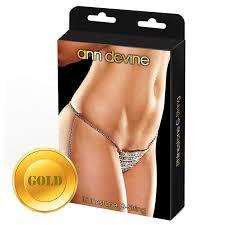 <b>Ann Devine Трусики</b>-<b>стринги</b> из золотистых кристаллов ...