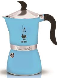 <b>Гейзерная кофеварка Fiametta</b> LIGHT BLUE <b>BIALETTI</b> 7106359 в ...