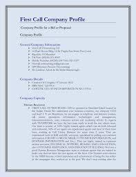 doc profile format sample business profile documents profile format doc580650 profile format sample business profile format