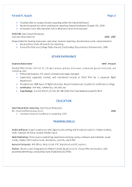 multimedia resume com resume page 2