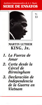 essays by martin luther king jr war resisters league essays by martin luther king jr spanish
