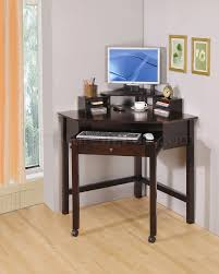 rich cherry finish modern home office small corner desk wroller home office furniture cherry finished