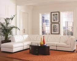 white bonded leather modular sectional sofa black or white furniture