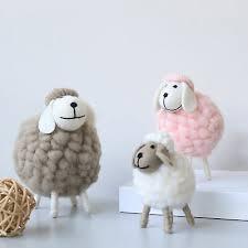 Childrens Bedroom <b>Ornament Personality</b> Cute Felt <b>Creative</b> Sheep ...