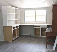 create built in shelving and cabinets on a tight budget home office charming office craft home wall storage