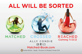 Matched Trilogy Books 1 -3 Matched, Crossed, Reached - Ally Condie