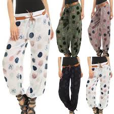 Harajuku Sweatpants <b>Women</b> Ladies Floral Trousers Long Pants ...