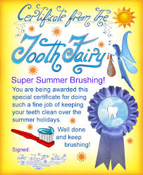 modern tooth fairy certificates rooftop post printables printable tooth fairy certificate for a child who has been brushing over the summer