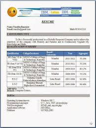 Professional Resume Formats        Download Resume Format Inspirenow